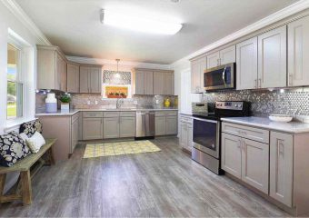 Grey Shaker Solid Wood Cabinets