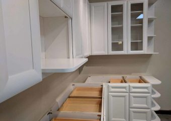 Arctic White Solid Wood Cabinet